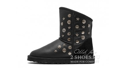 короткие джимми чу Ugg Australia Jimmy Choo Short Starlit Metallic Black