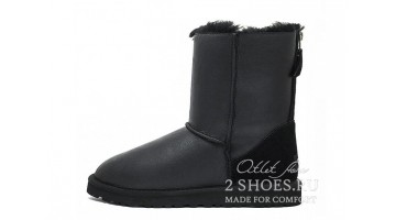 Угги женские Ugg Australia Short Zip Metallic Black