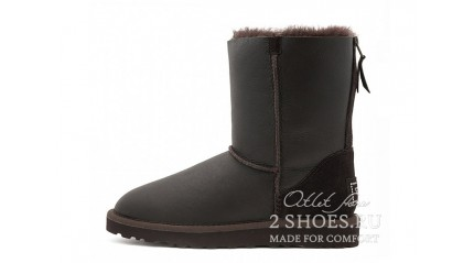 короткие с молнией Ugg Australia Short Zip Metallic Chocolate