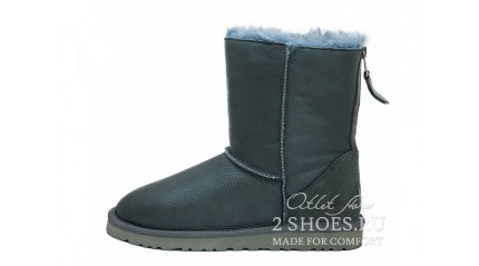 короткие с молнией Ugg Australia Short Zip Metallic Gray