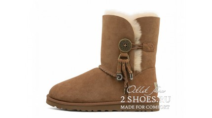 короткие с пуговицей Ugg Australia Bailey Button Short Azalea Chestnut