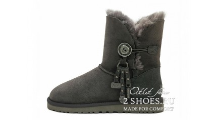 короткие с пуговицей Ugg Australia Bailey Button Short Azalea Dark Gray