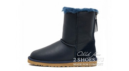 короткие с молнией Ugg Australia Short Zip Metallic Navy