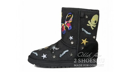 короткие эксклюзивные Ugg Australia Exclusive Short Patch It Black Denim