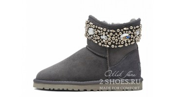 Угги женские Ugg Australia Jimmy Choo Mini crystal Grey