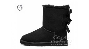 Угги женские Ugg Australia Bailey Bow Short II Black