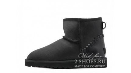 мини Ugg Australia Classic Mini Deco Metallic Black