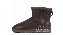 Мини Ugg Australia Classic Mini Deco Metallic Chocolate коричневые кожаные