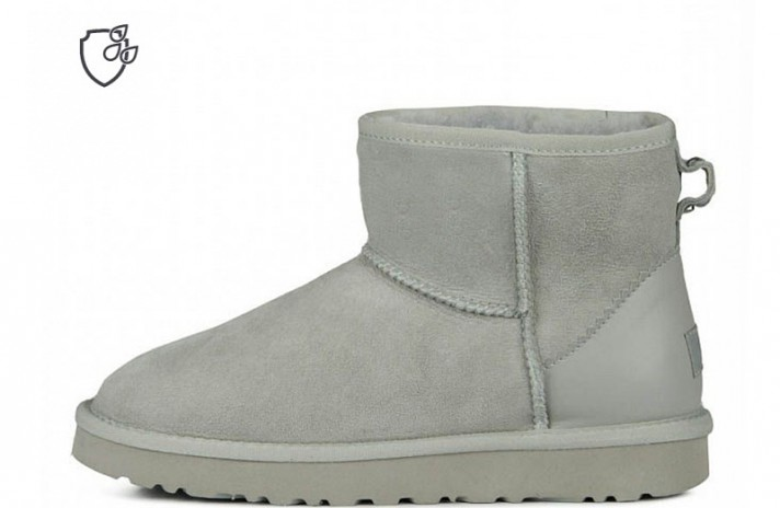 Мини Ugg Australia Classic Mini II Metallic Gray серые, фото 1