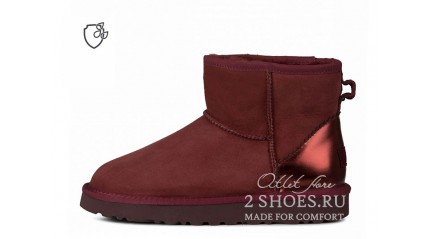 мини Ugg Australia Classic Mini II Metallic Port Burgundy