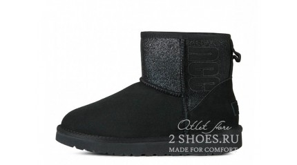 мини Ugg Australia Classic Mini Sparkle Boot Black