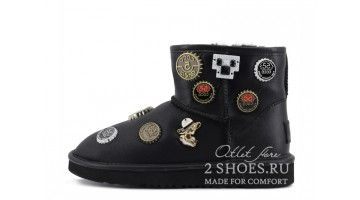 Угги женские Ugg Australia Jimmy C Mini CocoChanel Black