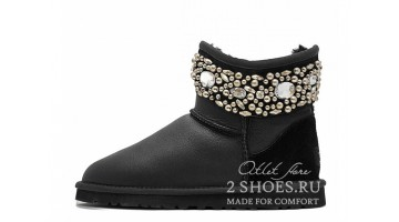 Угги женские Ugg Australia Jimmy C Mini crystal Black MT