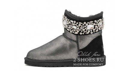 мини джимми чу Ugg Australia Jimmy Choo Mini Multicrystal Glitter Black