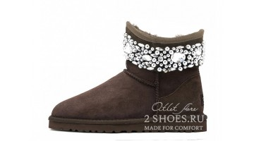 Угги женские Ugg Australia Jimmy Choo Mini crystal Choc
