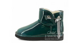 Мини джимми чу Ugg Australia Jimmy Choo Mini L&C Green зеленые кожаные