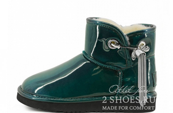 Мини джимми чу Ugg Australia Jimmy Choo Mini L&C Green зеленые кожаные, фото 1