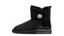 Мини с пуговицей Ugg Australia Mini Bailey Button Bling Black черные