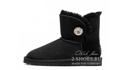 мини с пуговицей Ugg Australia Mini Bailey Button Bling Black