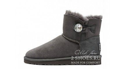 мини с пуговицей Ugg Australia Mini Bailey Button Bling Gray