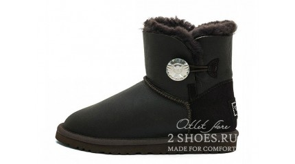 мини с пуговицей Ugg Australia Mini Bailey Button Bling Metallic Chocolate