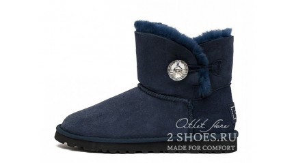 мини с пуговицей Ugg Australia Mini Bailey Button Bling Navy