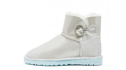 мини с пуговицей Ugg Australia Mini Bailey Button Bling White I Do