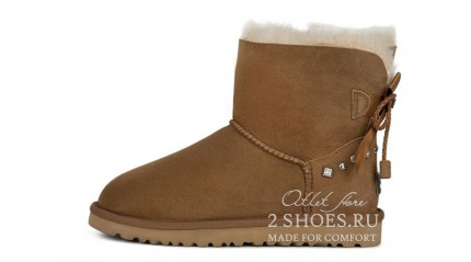 мини с лентами Ugg Australia Mini Bailey Bow Braid Chesthut