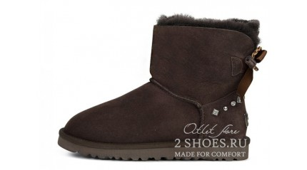 мини с лентами Ugg Australia Mini Bailey Bow Braid Chocolate
