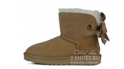 мини с лентами Ugg Australia Mini Bailey Bow Customizable Chestnut
