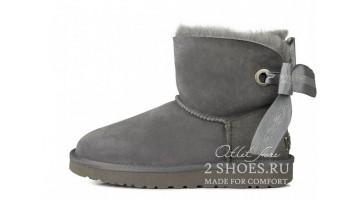 Угги женские Ugg Australia Mini Bailey Bow Custom Gray
