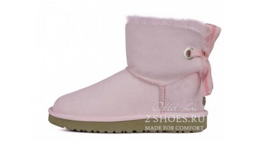 Угги женские Ugg Australia Mini Bailey Bow Custom Pink