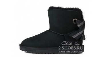 Угги женские Ugg Australia Mini Bailey Bow Custom Black