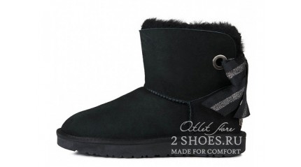 мини с лентами Ugg Australia Mini Bailey Bow Customizable Black