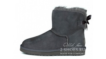 Угги женские Ugg Australia Mini Bailey Bow Gray