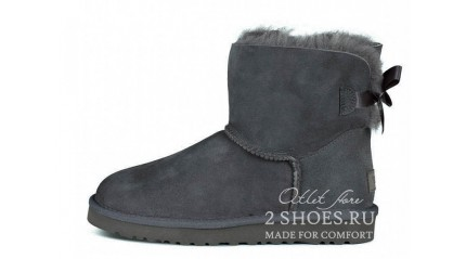 мини с лентами Ugg Australia Mini Bailey Bow Gray