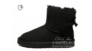 Угги женские Ugg Australia Mini Bailey Bow II Black