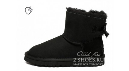 мини с лентами Ugg Australia Mini Bailey Bow II Black