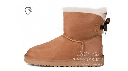 мини с лентами Ugg Australia Mini Bailey Bow II Chestnut