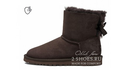 мини с лентами Ugg Australia Mini Bailey Bow II Chocolate