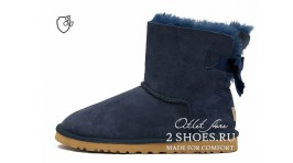 Мини с лентами Ugg Australia Mini Bailey Bow II Navy синие