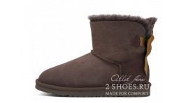 Мини с лентами Ugg Australia Mini Bailey Bow Medallion Chocolate коричневые