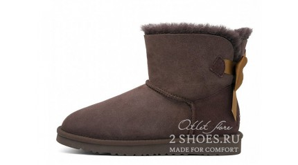 мини с лентами Ugg Australia Mini Bailey Bow Medallion Chocolate