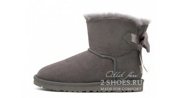 Угги женские Ugg Australia Mini Bailey Bow Medal Gray