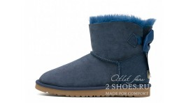 Мини с лентами Ugg Australia Mini Bailey Bow Medallion Navy синие