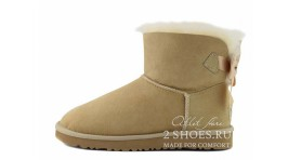 Мини с лентами Ugg Australia Mini Bailey Bow Medallion Sand бежевые