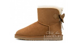 Мини с лентами Ugg Australia Mini Bailey Bow Medallion Chesthut желтые