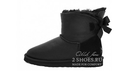 мини с лентами Ugg Australia Mini Bailey Bow Metallic Black