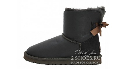 мини с лентами Ugg Australia Mini Bailey Bow Metallic Chocolate