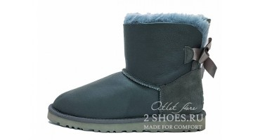 Угги женские Ugg Australia Mini Bailey Bow Met Grey